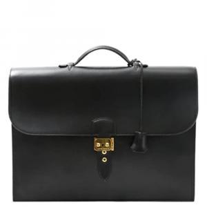 Hermes Black Box Leather Sac a Dépeches 41 Bag