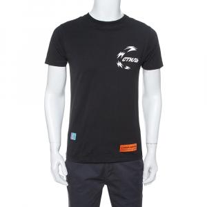 Heron Preston Black Chinese Heron Print Cotton T-Shirt XS