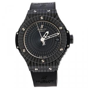 Hublot Black Ceramic / Titanium Big Bang Caviar 346.CX.1800.RX Men's Wristwatch 41MM