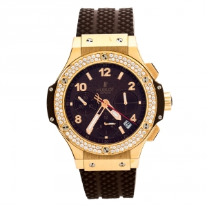 Hublot Chocolate 18K Rose Gold Diamond Big Bang Cappuccino 341.PC.1007.RX.114 Men's Wristwatch 41 mm