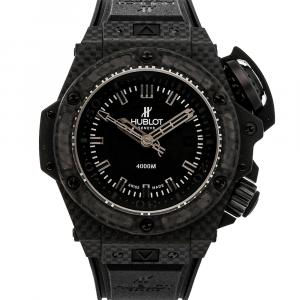 Hublot Black Carbon King Power Oceanographic 4000 Limited Edition 731.QX.1140.RX Men's Wristwatch 48 MM