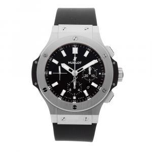 Hublot Black Stainless Steel Big Bang Chronograph 301.SX.1170.RX Men's Wristwatch 44 MM