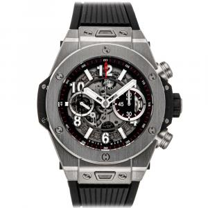 Hublot Gray Titanium Big Bang Unico 411.NX.1170.RX Men's Wristwatch 45 MM