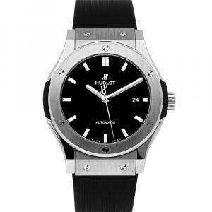 Hublot Black Titanium Classic Fusion 542.NX.1171.RX Men's Wristwatch 42 MM