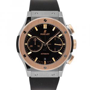 Hublot Black 18K Rose Gold And Titanium Classic Fusion Chronograph 521.NO.1181.RX Men's Wristwatch 45 MM
