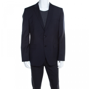 Hugo by Hugo Boss Navy Blue Wool Tailored James Blazer XL