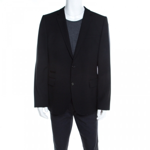 Hugo by Hugo Boss Black Wool Tailored Alkoso Blazer XL