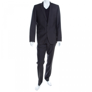Hugo By Hugo Boss Grey Wool Slim Fit Alim/Himens Suit XL