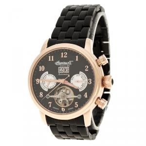 Ingersoll Black Rose Gold-Plated Steel Harvard Limited Edition Men's Wristwatch 43MM