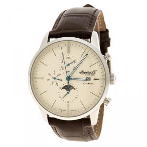 Ingersoll Cream Stainless Steel Aurora Men's Wristwatch 42MM