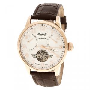 Ingersoll White Rose Gold-Plated Steel Massa Men's Wristwatch 44MM