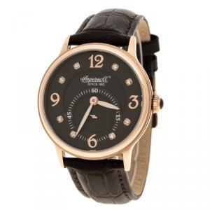 Ingersoll Brown Rose Gold-Plated Steel Regent Men's Wristwatch 38MM