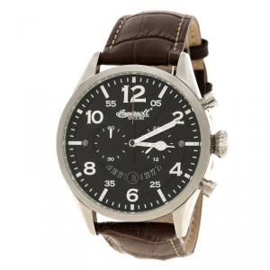Ingersoll Black Stainless Steel Compton Men's Wristwatch 46MM
