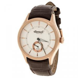 Ingersoll White Rose Gold-Plated Steel Bloomsbury Men's Wristwatch 42MM