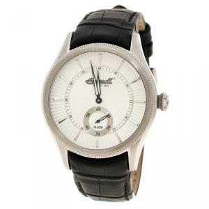 Ingersoll White Stainless Steel Bloomsbury Men's Wristwatch 42MM