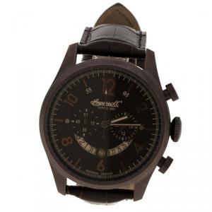Ingersoll Dark Brown PVD Coated Steel Chelsea Men's Wristwatch 46MM