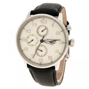 Ingersoll White Stainless Steel Eaton Men's Wristwatch 45MM