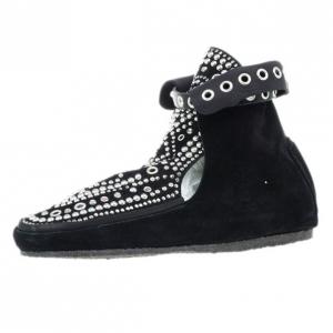 Isabel Marant Black Suede Morley Studded Boots Size 38