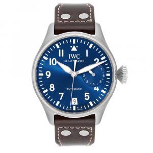 IWC Blue Stainless Steel Pilot Le Petit Prince Big Pilots IW501002 Men's Wristwatch 46 MM