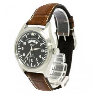 IWC Black Stainless Steel Flieger Men's Wristwatch 39MM