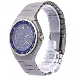 ساعة يد رجالية آي دبليو سي بورش ديزاين تيتانيوم زرقاء 36 مم