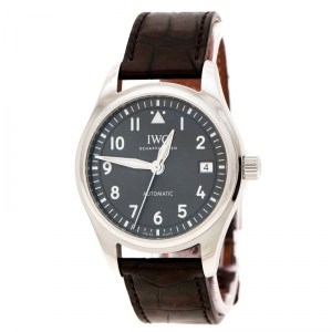 IWC Slate Grey Stainless Steel Pilot's Watch Automatic 36 IW324001 Men's Wristwatch 36 mm