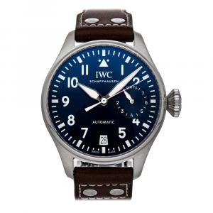IWC Blue Stainless Steel Pilot Le Petit Prince IW5010-02 Men's Wristwatch 46 MM