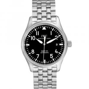 IWC Black Stainless Steel Pilot Mark XVI IW325504 Men's Wristwatch 39 MM