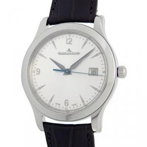 ساعة يد رجالية ياجر لي كولتر ماستر كونترول ستانلس ستيل فضة 40مم