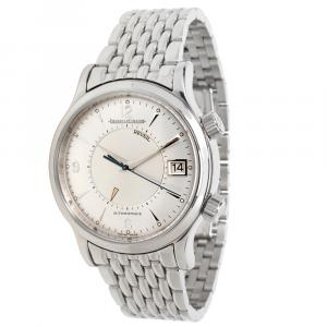 Jaeger-LeCoultre Gray Stainless Steel Reveil 141.8.97/1 Men's Wristwatch 38 MM