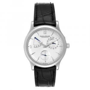 Jaeger Lecoultre Silver Stainless Steel Reserve De Marche 140.8.38.S Men's Wristwatch 37 MM
