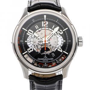 Jaeger LeCoultre Black Titanium Amvox2 DBS Chronograph Limited Edition Q192T450 Men's Wristwatch 44 MM