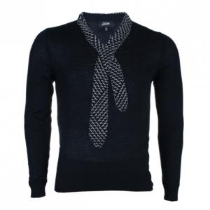 Jean Paul Gaultier Mens Knit Tie Sweater M