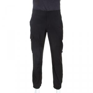 Jean Paul Gaultier Black Wool Lightweight Cargo Trousers XL