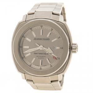 JeanRichard Silver Stainless Steel Terrascope Men's Wristwatch 50 mm