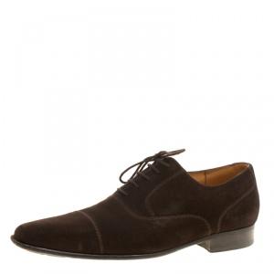 حذاء أكسفورد جي.إم ويستون أربطة سويدي بني داكن مقاس 42