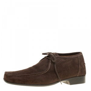 J.M.Weston Brown Suede Lace Up Derby Size 42.5