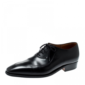 J.M.Weston Black Leather Oxfords Size 42
