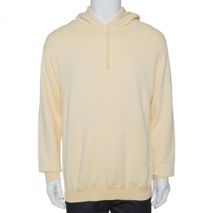 John Elliott Light Yellow Vintage Cotton Fleece Hoodie L