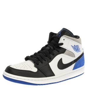 Air Jordan 1 Mid Nike Tri Color Leather and Suede Union LA Flip High Top Sneakers Size 42.5