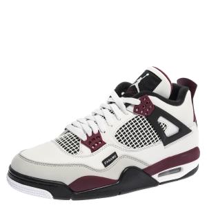 Air Jordan 4 Retro Tri Color Leather Paris Saint Germain Sneakers Size 42