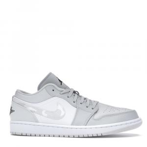 Nike Jordan 1 Low White Camo Sneakers US Size 8.5 EU Size 42
