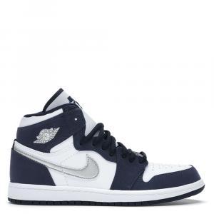 Nike Jordan 1 Retro High Japan Midnight Navy Sneakers Size EU 38.5 US 6Y