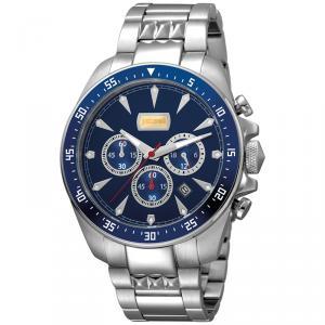 Just Cavalli Blue Stainless Steel Sport JC1G013M0055 Men's Wristwatch 44MM