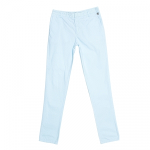 Kenzo Light Blue Cotton Collection Fit Trousers S