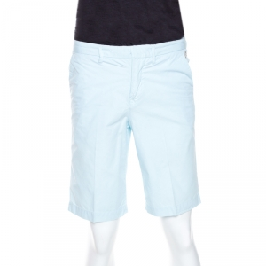 Kenzo Light Blue Cotton Collection Fit Bermuda Shorts S