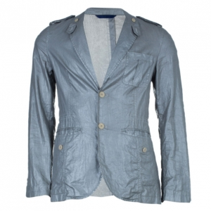 Kenzo Men's Gray Metallic Casual Blazer M