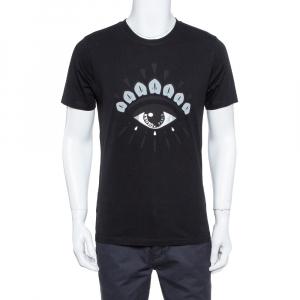 Kenzo Black Eye Print Cotton Crew Neck T-Shirt M - used
