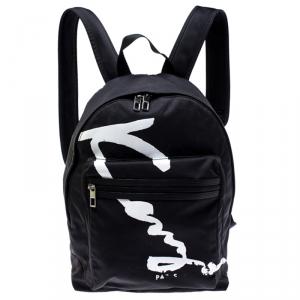 Kenzo Black Nylon Signature Logo Bakcpack
