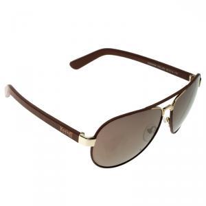 نظارة شمسية أفياتورز كورلوف KOR2036 بنية/ذهبية